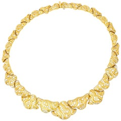 Marina B. 'Bulgari' 17.00 Carat Diamond 18 Karat Gold Necklace