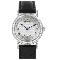 Breguet Classique 18 Karat White Gold Diamond Ladies Watch 8561