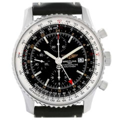 Breitling Aeromarine Superocean Steelfish Black Dial Watch A17390