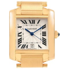 Cartier Tank Francaise Large 18 Karat Yellow Gold Automatic Watch W50001R2