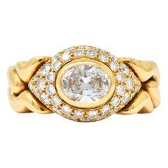 Bulgari 1.15 Carat Diamond 18 Karat Gold Alveare Ring, circa 1980