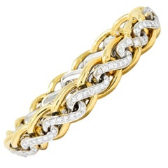 Bulgari 4.00 Carat Diamond 18 Karat Two-Tone Gold Bracelet