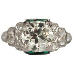 GIA Certified 1.85 Carat Diamond Platinum Engagement Ring
