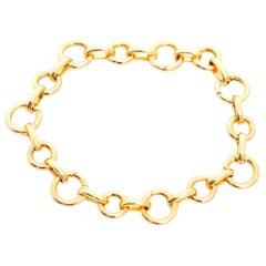Aaron Basha Open Link Charm Bracelet