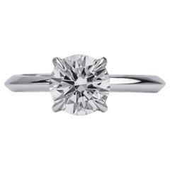 GCAL Certified 18 Karat White Gold and 1.50 Carat Diamond Viola Ring by Alessa