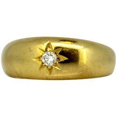 Vintage 18 Karat Gold Ring with Diamond