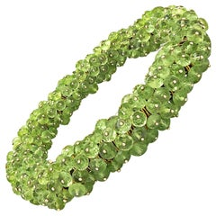 Erich Zimmermann Faceted Peridot Gold Wrapped One of a Kind Tropics Bracelet