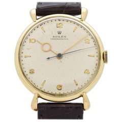 Vintage Rolex Chronometer Reference 4411 Watch in 14 Karat Yellow Gold, 1956