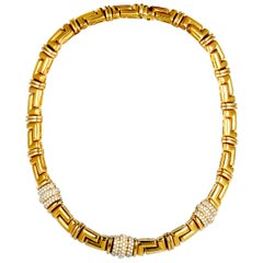 Bulgari Diamant Gelbgold Collier