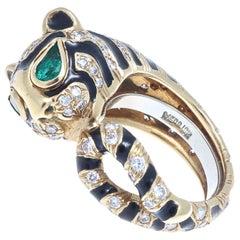 David Webb Kingdom Collection Tiger Ring