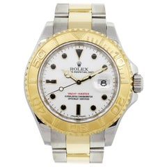 Rolex 16623 Yachtmaster Two-Tone White Dial Wristwatch