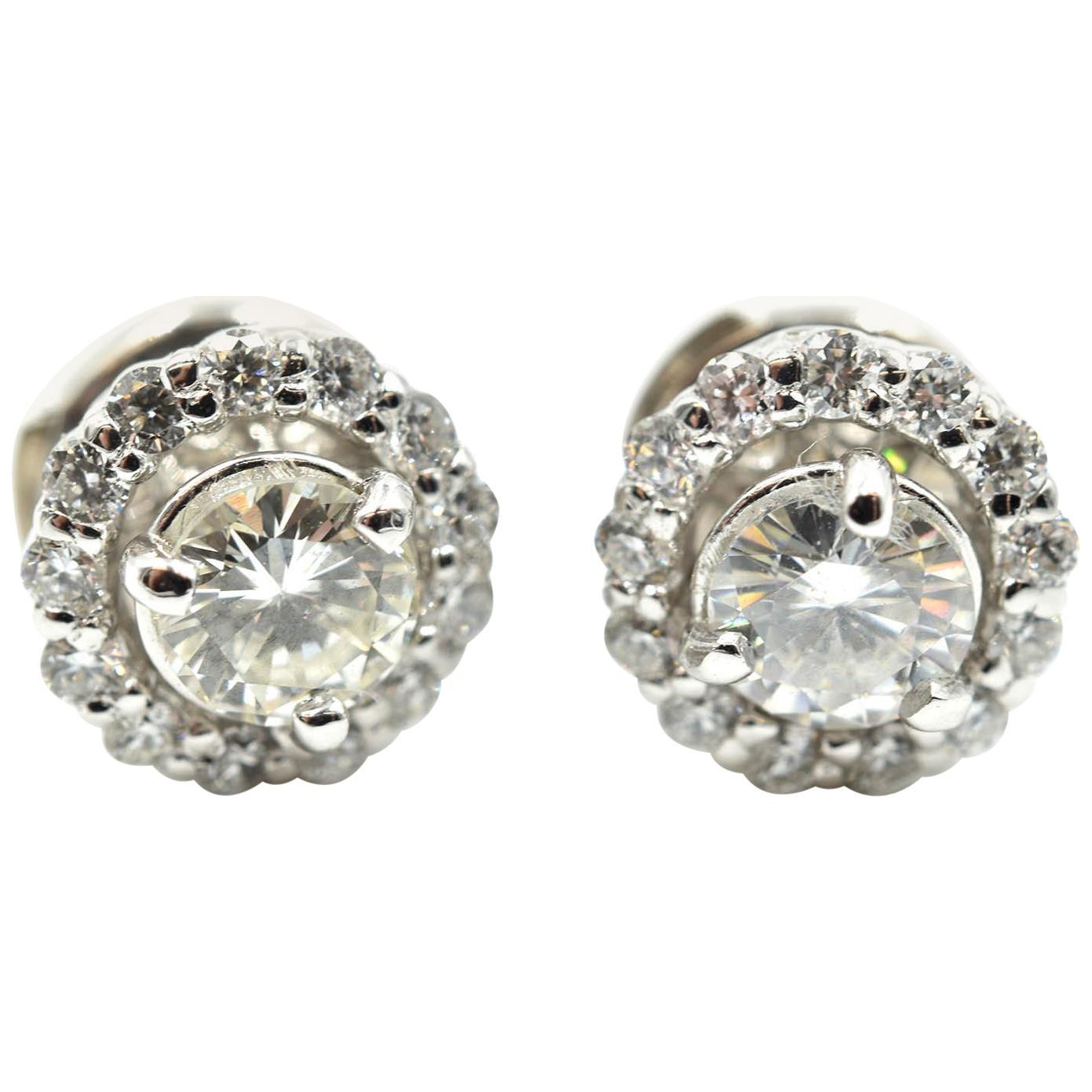 1.52 CT Martini Diamond Stud Earrings I