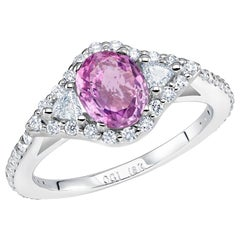Pink Sapphire and Diamond Cocktail Gold Ring Weighing 2 Carat