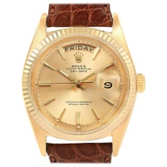 Rolex President Day-Date Yellow Gold Vintage Men's Watch 1803