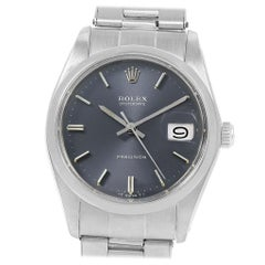 Rolex Oysterdate Precision Grey Dial Steel Vintage Men's Watch 6694