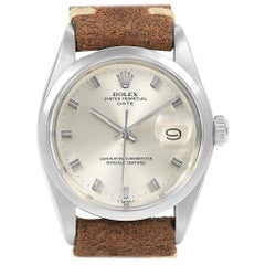 Rolex Date Smooth Bezel Automatic Steel Vintage Men's Watch 1500