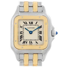 Cartier Panthere Steel Yellow Gold 2-Row Ladies Watch W25029B6 Box