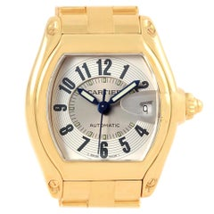 Cartier Roadster 18 Karat Yellow Gold Large Men's Watch W62005V1