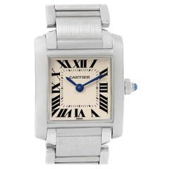 Cartier Tank Francaise Silver Dial Steel Quartz Ladies Watch W51008Q3