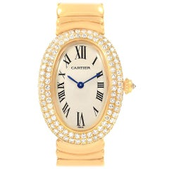 Cartier Baignoire Joaillerie 18 Karat Yellow Gold Diamond Ladies Watch, 1950