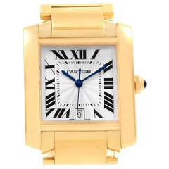 Cartier Tank Francaise Large 18 Karat Yellow Gold Unisex Watch W50001R2