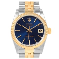 Rolex Datejust Midsize Steel Yellow Gold Ladies Watch 68273 Box