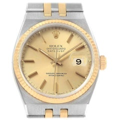 Rolex Oysterquartz Datejust 36 Steel Yellow Gold Men's Watch 17013