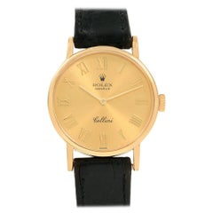 Rolex Cellini Classic Yellow Gold Roman Numerals Ladies Watch 5109