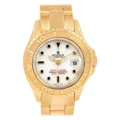 Rolex Yachtmaster 29 Yellow Gold White Dial Ladies Watch 69628