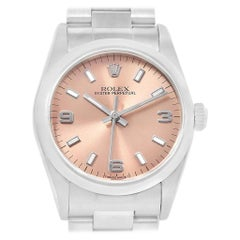 Rolex Midsize Salmon Dial Oyster Bracelet Steel Ladies Watch 67480