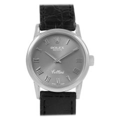 Rolex Cellini Classic 18 Karat White Gold Slate Dial Ladies Watch 6111