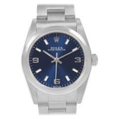 Rolex Midsize Blue Dial Oyster Bracelet Steel Ladies Watch 77080