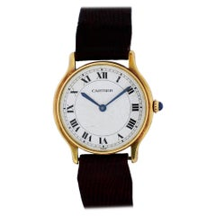 Vintage Cartier Paris 18 Karat Yellow Gold Ladies Watch
