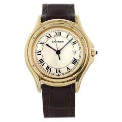 Cartier Cougar Panther 116000R 18 Karat Yellow Gold Ladies Watch