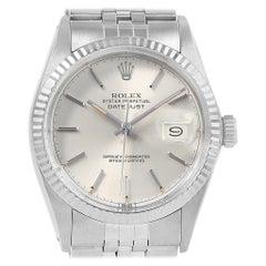 Rolex Datejust Vintage Steel White Gold Fluted Bezel Men's Watch 16014
