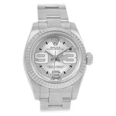 Rolex NonDate Steel White Gold Ladies Watch 176234 Box Card
