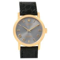 Rolex Cellini Classic 18 Karat Yellow Gold Ladies Watch 6110 Box Card