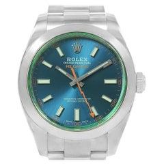 Rolex Milgauss Black Dial Green Crystal Men's Watch 116400V Box Card
