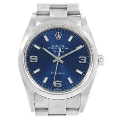 Rolex Air King 34 Blue Dial Oyster Bracelet Steel Men's Watch 14000