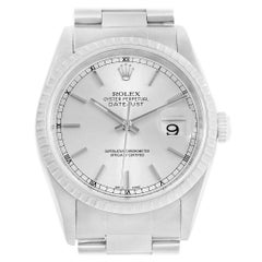 Rolex DateJust 36 Silver Dial Steel Men's Watch 16220 Box Papers