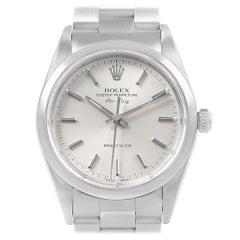 Rolex Air King 34 Silver Dial Oyster Bracelet Steel Men's Watch 14000
