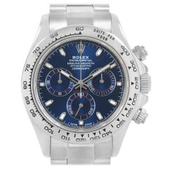 Rolex Cosmograph Daytona White Gold Blue Dial Men's Watch 116509