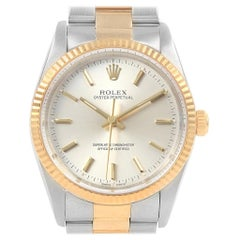 Rolex Oyster Perpetual Steel Yellow Gold Men's Watch 14233 Box Papers