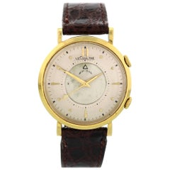 "Vintage LeCoultre Memovox 18 Karat Yellow Gold ""Wrist Alarm"""