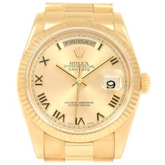 Rolex President Day Date 18 Karat Yellow Gold Men's Watch 118238