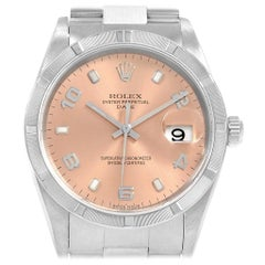 Rolex Date White Dial Oyster Bracelet Steel Men's Watch 15210