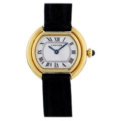 Cartier Paris Ellipse Gondole 18 Karat Yellow Gold Ladies Watch