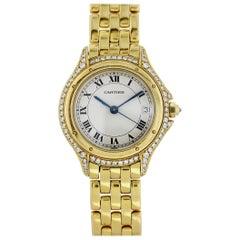 Cartier Panthère Cougar 887907 18 Karat Yellow Gold Watch