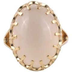 18 Karat Yellow Gold Moonstone Ring