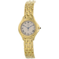 Cartier Cougar 001333 18 Karat Yellow Gold Ladies Watch